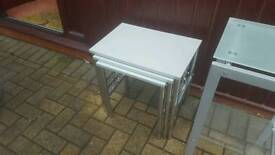 silver nest of tables