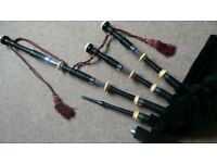 Vintage Quality old Ebony bagpipes