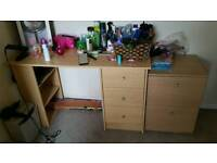 Desk with additional drawer unit