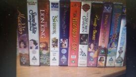 25+ VHS Disney video films