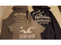 2 Hollister hoodies + TShirt