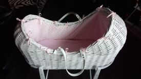 Beautiful moses basket pod and stand