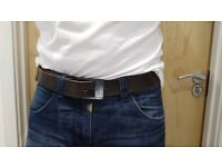 HIS Brown belt genuine leather