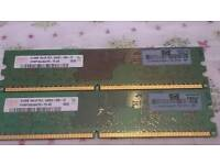 2x512mb 1Rx16 PC2-5300U-555-12 desktop memory
