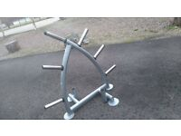 Olympic bar and plate holder commercial/home gym