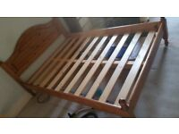 Wooden double bed frame - Under bed draw included - Good condition