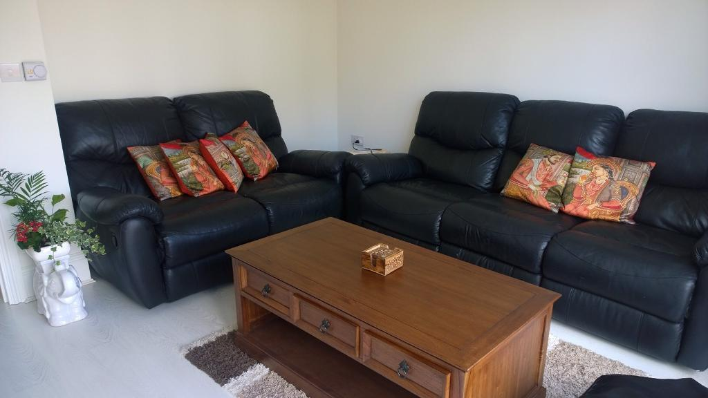 3 plus 2 seater reclining Leather Sofa | in Rugby, Warwickshire ...