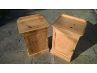 Bedside cabinets - solid pine