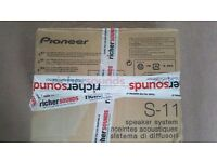 New 5.1 PIONEER HOME THEATER SPEAKERS S-11 SURROUND & SUBWOOFER S-22W-P