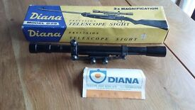 Diana G29 Telescopic Sight. Milbro, Great Britain. Vintage / Collectable. Boxed with instructions.