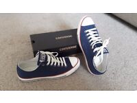 Converse Trainers - size 10. Worn for 5 mins, too small - perfect condition!!!!