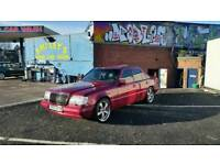 Mercedes w124 car E300 AMG 19 inch alloys - alloy wheels not Bmw Audi Chrysler Lexus Jaguar Vw Jeep