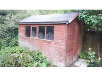Garden Shed 10 x 8 wood Tongue & Groove wooden used 10x8 apex roof