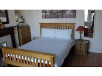 Double bed Solid Wooden with Memory foam mattress