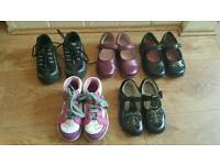 6 pairs girl shoes size 6 & 7