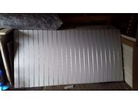 White Slatwall Panel mdf sheet boards 8ftx4ft 18 available absolute bargain!