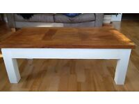 Shabby Chique Coffee Table, parquet top finish in very good condition