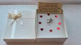 VALENTINE'S DAY GIFT BIRD OF PEACE CHARM WITH MESSAGE BEAUTIFULLY BOXED WITH RIBBON