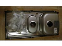 Blanco Tipo 6S Basic Bonus 1.5 Sink plus waste kit, new and unused, in packaging.