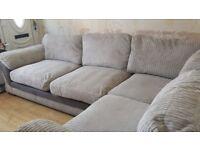 Large corner gray sofa