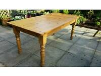 Vintage Oregan pine dining table
