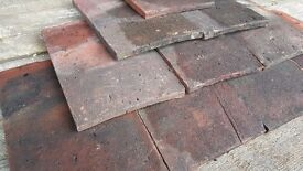 """Reclaimed Red Handmade Roof Tile 