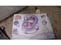 Blue Bright Starts Comfort Harmony baby recliner