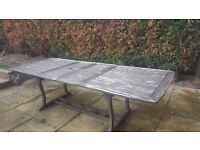Large extendable garden table 6 chairs. Project, shabby chic, upcycle???