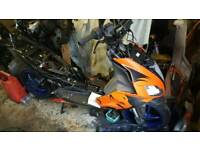 Apprilla sr 50 r 2010 with everything and a derbi gpr 50 racing 2005