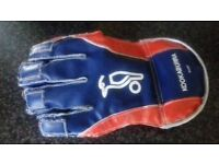 boys cricket items for sale together or separately: jumper, glove, pads; £5 each