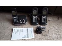 Panasonic KX-TG6521E Answering System and 2 Extra Handsets