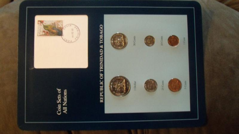 Coin Sets of All Nations Trinidad & Tobago 1978-1994 UNC $1 1979 50 cents 1978