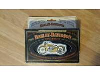 Harley Davidson collectors playing cards.