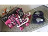 Girls size 2 Roller Skates