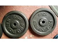 2 x 10 kg standard weight plates