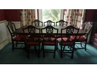 STUNNING 8 PIECE DINNER TABLE WITH CHAIRS