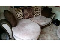 3-seater sofa and 2-person swivel chair. Excellent condition