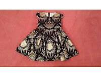 David Charles Black and Gold Brocade Girls Dress (3 year)