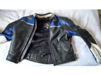 EURO Armoured leather mens motorcycle jacket