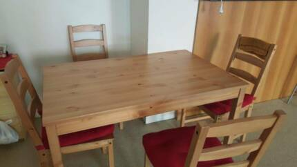 Dining table + Four chairs in excellent condition. Strathfield Strathfield Area Preview