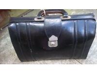 Vintage black leather brief case