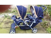 Graco double pram and buggy