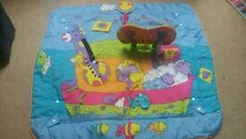 Genuine tiny love play mat with kick board. Like new