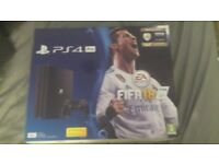PS4 PRO 1TB WITH FIFA 18 BRAND NEW