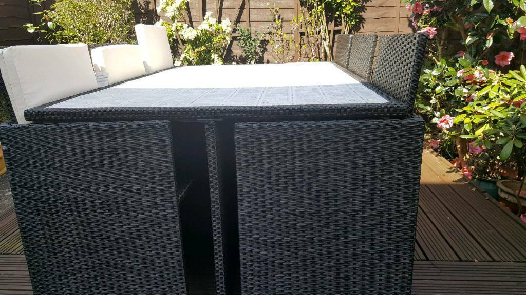 Enjoyable Rattan Cube Garden Furniture 6 Seater Patio Set In Torrington Devon Gumtree Download Free Architecture Designs Jebrpmadebymaigaardcom