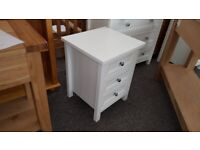 Julian Bowen Maine Surf White 3 Drawer Bedside Table Can Deliver