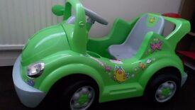 children's sit on car