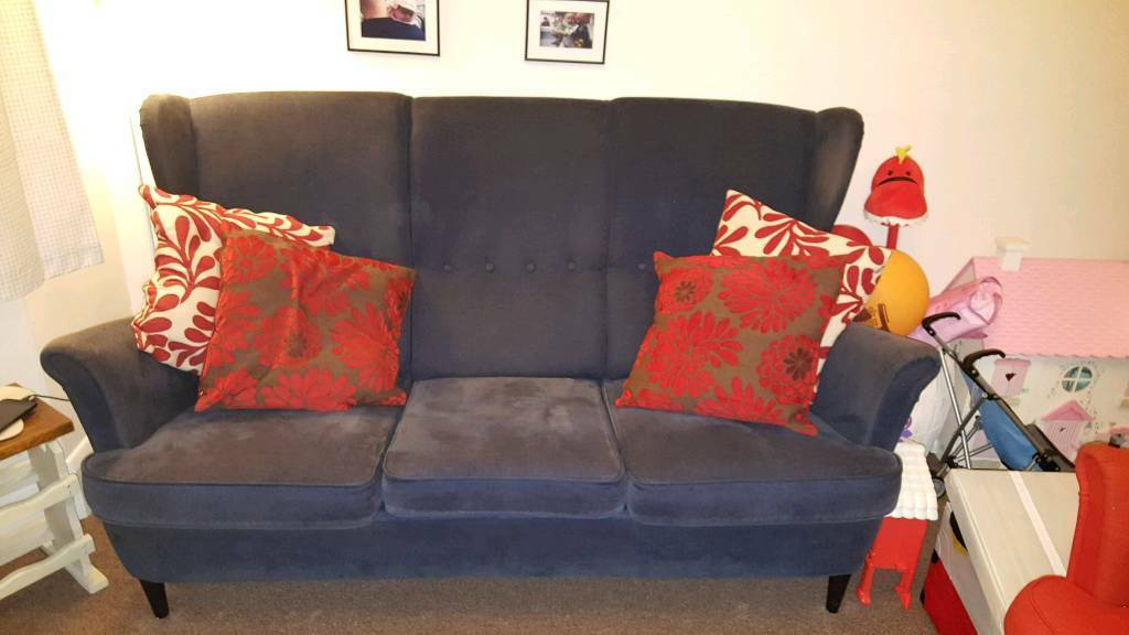 Blue 3 piece sofa