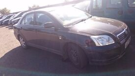 2004 TOYOTA AVENSIS T2 D-4D, 2.0 DIESEL, BREAKING FOR PARTS ONLY, POSTAGE AVAILABLE NATIONWIDE