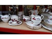 Colclough pottery, plates, milk jugs
